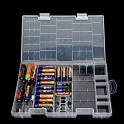 [Free Shipping] AAA AA C D 9V Battery Holder Hard Plastic Case Storage Box /