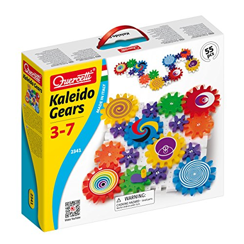(Quercetti Kaleido Gears - 55 Piece Building Set with 3 Different Sized Gears)