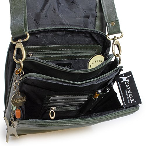 Green Catwalk City Messenger Bag A4 Work Collection CCYwqrU
