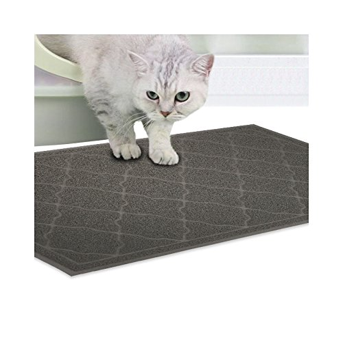 Cat Litter Mat -Premium Litter Mat, XL Jumbo Size, Phthalate Free, Traps Litter from Box and Paws, Best Scatter Control, Soft on Sensitive Kitty Paws, Easy to Clean, Durable(35.5inches x (Cedar Mats)