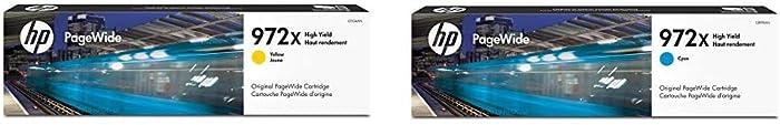 HP 972X | PageWide Cartridge High Yield | Yellow | L0S04AN & 972X | PageWide Cartridge High Yield | Cyan | L0R98AN