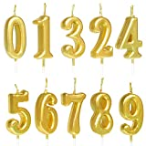Toys : ZZPRO 10 PCS Cake Numeral Candles, Birthday Numeral Candles, Number 0-9 Glitter Cake Topper Decoration for Birthday Favor,Party Celebration