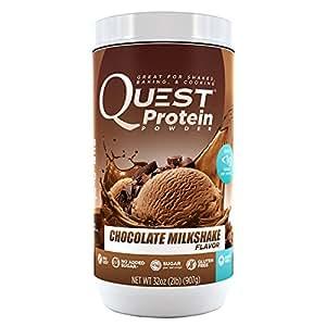 Quest Nutrition Protein Powder, Chocolate Milkshake, 23g Protein, 84% P/Cals, 0g Sugar, 2g Net Carbs, Low Carb, Gluten Free, Soy Free, 2lb Tub