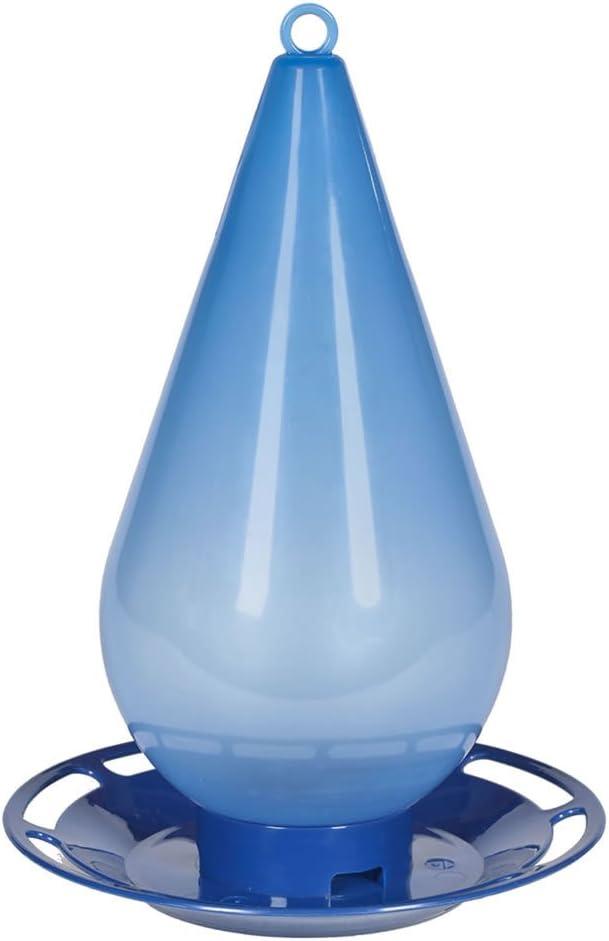 Perky-Pet Bebedero de Agua Fresca para los pájaros-Decoración Azul translúcida en Forma de Gota a Colgar en el jardín para abrevar los Aves en casa #781