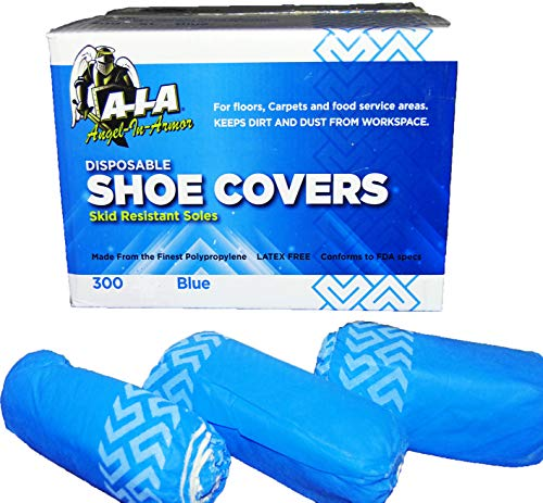 Disposable Shoe Covers Extra Large XL Non Skid Wholesale 1000 Pack by A-I-A Angel-In-Armor (Image #4)