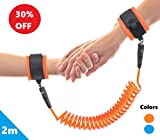 Toddler Leash Child Anti Lost Harness Wrist Link: With Double Velcro Wrist band and No-Cut Chain for Maximum Security – Comfy Wrist Straps Rotate 360 – Keep Kids Nearby – 2m Length – Baby Safety