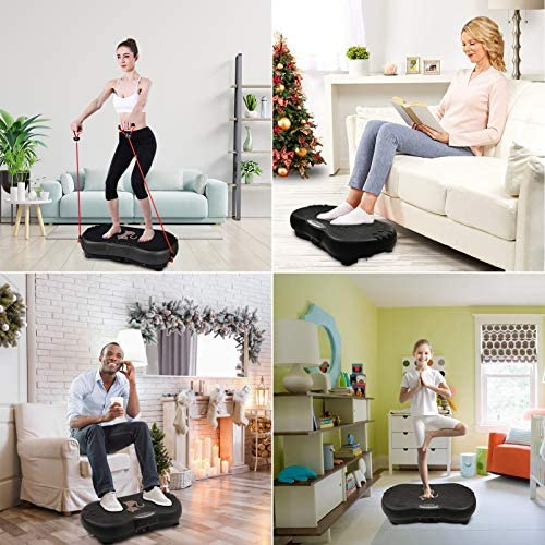Ravs Vibration Plate Exercise Machine Whole Body Workout Machine Vibration Fitness Platform Machine Home Training Equipment with Resistance Bands, Remote Control and Max Load 330lbs 3