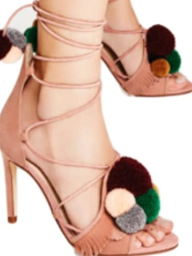 Zara Genuine Leather Pompom high Heel