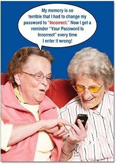 Amazon 6291z senior jeopardy funny birthday greeting card 9912z incorrect password funny birthday greeting card with 5 x 7 m4hsunfo