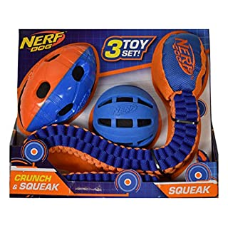 Nerf Dog Assorted Toy Set, 3-Count
