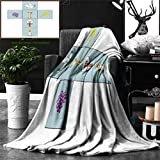 Ralahome Unique Custom Double Sides Print Flannel Blankets Baptism Decorations Baptismal Cross Bible Faith Believing Greeting Welcoming Ba Super Soft Blanketry Bed Couch, Throw Blanket 60 x 50 Inches