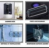 Baño Italia Box hidromasaje 80 x 80 cabina ducha multifunción ...