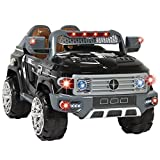 Angelwing Ride On Truck Car Kids With Remote Control LED Lights AUX and Music MP3 12V Motors