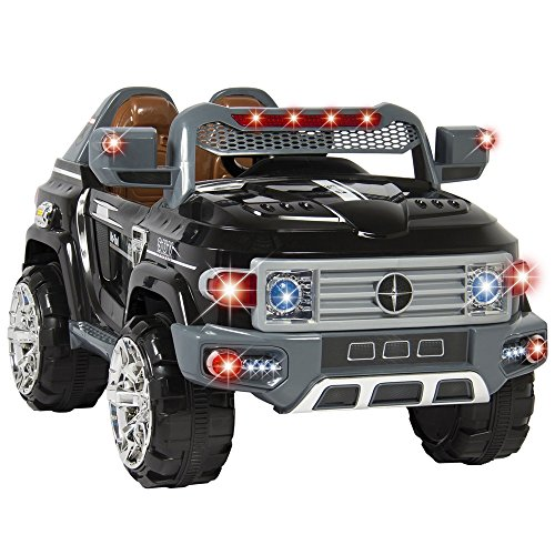 Land Shark Dog Costume (Angelwing Ride On Truck Car Kids With Remote Control LED Lights AUX and Music MP3 12V Motors)