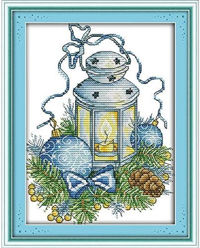 BLUE  LANTERNS   Counted Cross Stitch  Kit