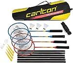 Jeu complet de raquette volant et sac de badminton Carlton