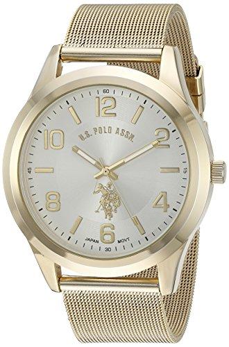 U.S. Polo Assn. Classic Men's Quartz Metal and Alloy Watch, Color:Gold-Toned (Model: USC80376)