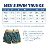 maamgic Mens Boys Short 80s 90s Vintage Swim Trunks