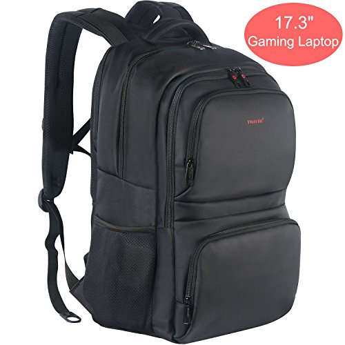 KUPRINE 17 inch Travel Laptop Backpack for Men Extra Large College Students School Backpack Anti Theft Water Resistant Notebook Computer Backpack for MacBook, Surface, Ipad, Laptop & More, Black