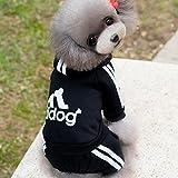 【adidog】【アディドッグ】犬用 つなぎパーカー 犬服 ドッグウェア サイズ XS/S/M/L/XL/XXL 6COLORS XS,ブラック ブラック,XS