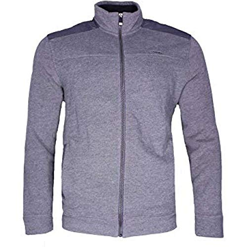 Calvin Klein Jeans Men's Full-Zip Fleece Mock Neck Sweatshirt Jacket (Dark Cliff HTR, - Jeans Mens Zip
