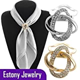 Estony Dual Purpose Scarf Buckle Brooch Clips Pin For Women
