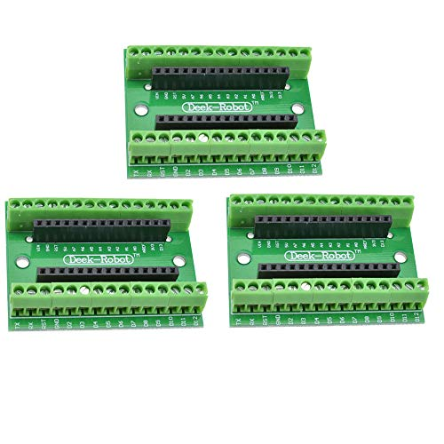 diymore 3PCS Nano V3.0 Controller Terminal Adapter Board Nano AVR ATMEGA328P IO Shield Expansion Module for Arduino