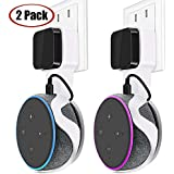 Outlet Wall Mount Holder Hanger Stand for Alexa Dot 3rd Generation TOOVREN Space-Saving Accessories for Your Smart Home Speakers Without Mess Wires or Screws (2 Pack)