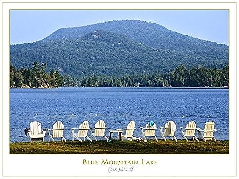 Amazon.com: Adirondack Chairs on Blue Mountain Lake ...