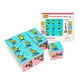 Story Retelling Dice Imagination Creativity Cube Puzzle Set for Kids, 9 Cubes