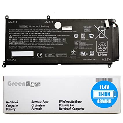 Amazon com: GreenTech LP03XL 807417-005 Replacement Battery