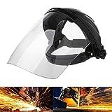 OTGO Transparent Lens Welding Helmet Solder Mask Anti-UV Head-Wearing Face Shield,26×23×18cm