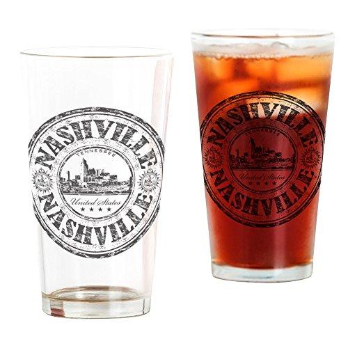 CafePress Nashville Stamp Pint Glass, 16 oz. Drinking Glass]()