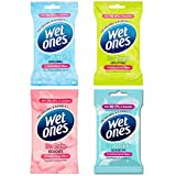 Wet Ones Antibacterial Be Fresh Cute Zingy Gentle Travel Body Face Wipes Set x20