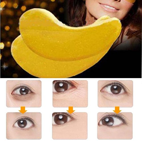 Creazy 20 Pairs Wholesale New Crystal Gold Powder Gel Collagen Eye Mask Masks - Sunglasses Mp3 Wholesale