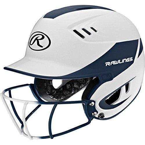 - Rawlings Sporting Goods Senior Velo Sized Softball Helmet, White Navy
