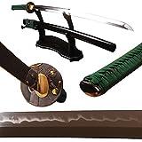1095 carbon steel sword - Shijian Full Tang 1095 High Carbon Steel Clay Tempered Sword Katana Real Sharp Can Customize