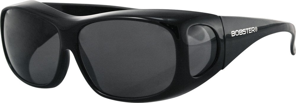 Bobster Condor Over-Prescription Sunglasses,Black Frame/Smoked Lens,one size by Bobster
