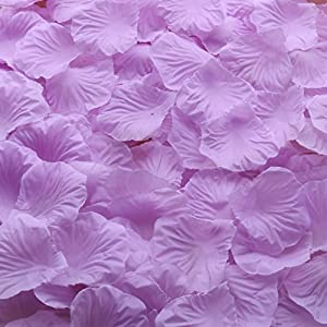 Gresorth Light Purple Artificial Silk Rose Petals Decor Fake Petal Flower Wedding Bridal Decoration - 2000 PCS 13