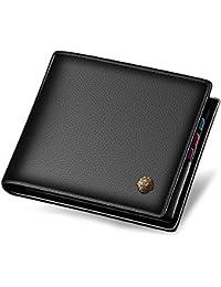 Men's Genuine Leather Wallet Short Slim Wallets Credit Card Holder for Man
