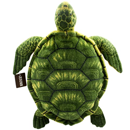 Jesonn Realistic Soft Stuffed Marine Animals Toy Turtle Plush for Kids' Pillow and Gifts,Green,20'' or 50CM,1PC by JESONN