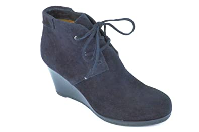 f4e1ee1dc8c7 Image Unavailable. Image not available for. Color  Via Spiga Women s Mirren  Wedge Black Suede Booties 7 M