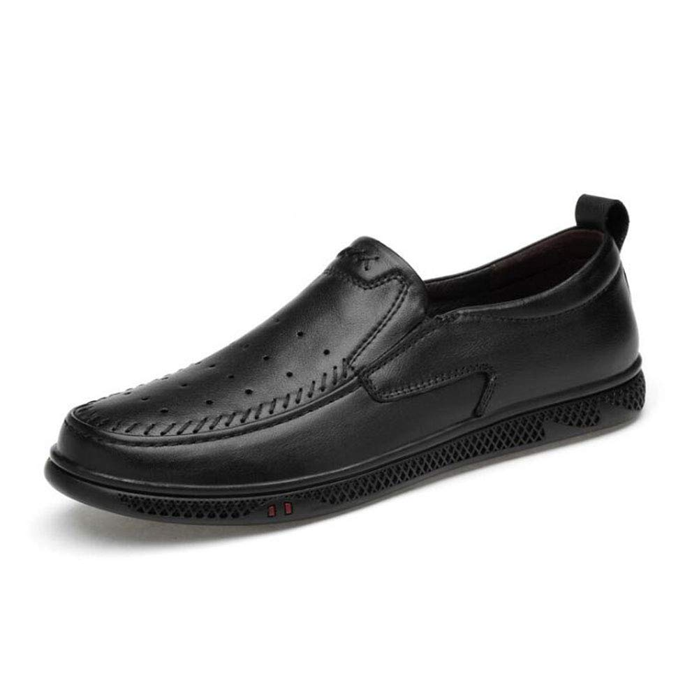 Hy Mens Casual schuhe, 2019 Frühjahr Neue Formal-Business-Schuhe, Hollow-Out, Mens Comfort Breathable Driving schuhe, Loafers & Slip-Ons,schwarzhollow,45