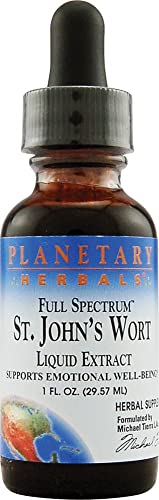 Planetary Herbals Full Spectrum St. John s Wort Liquid Extract, 1 Fluid Ounce