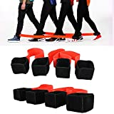 4 Legged Race Bands Outdoor Activities Teamwork Training for Kids Adults Families Birthday Party Outside Children Team Game