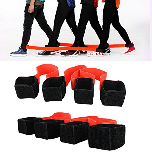 4 Legged Race Bands Outdoor Activities Teamwork Training for Kids Adults Families Birthday Party Outside Children Team Game by Fullsexy