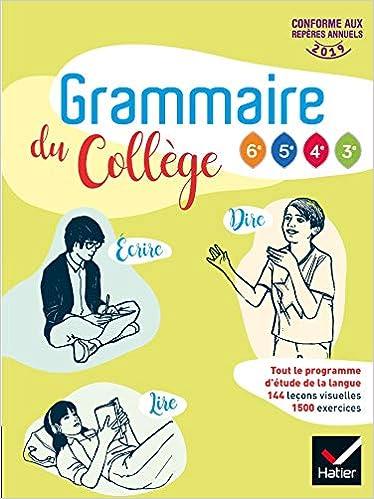 Amazon Fr Grammaire Du College Francais 6e Cycle 4 Ed