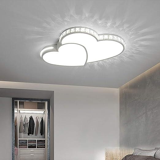 Lampadari Design Camera Da Letto.Led Plafoniera Cuore Lampada Da Soffitto Modern Ragazze Bambini