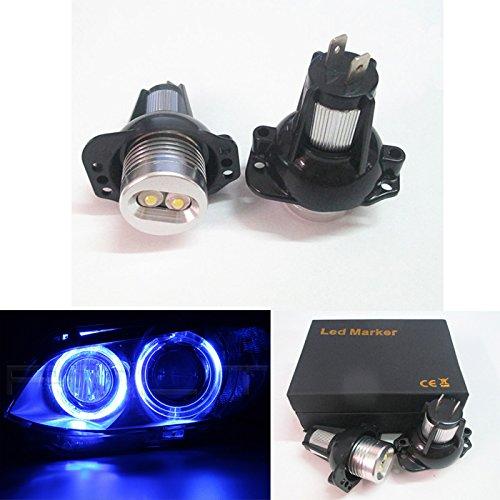 Un conjunto Angel Eye Halo de luz cabeza azul de Canbus No Error LED bombillas Global Fortune Industrial CO. LTD