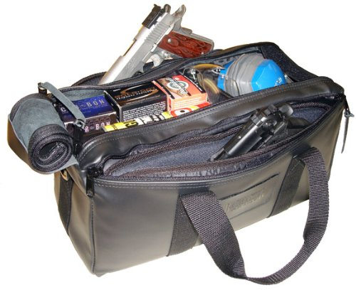 Bagmaster Leather Pro Shooters Bag Deluxe - Black Leather (Pro Bag Shooters)